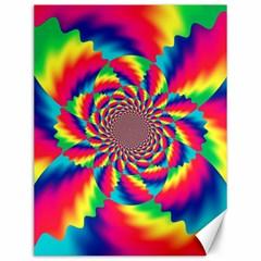Colorful Psychedelic Art Background Canvas 12  X 16