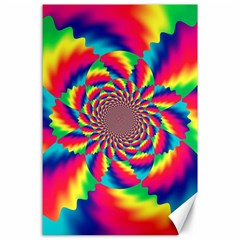 Colorful Psychedelic Art Background Canvas 24  X 36