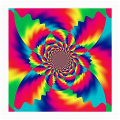 Colorful Psychedelic Art Background Medium Glasses Cloth