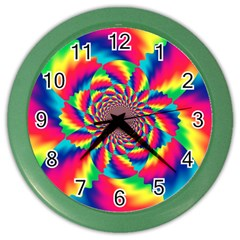 Colorful Psychedelic Art Background Color Wall Clocks