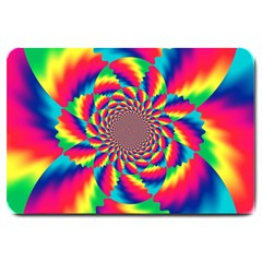 Colorful Psychedelic Art Background Large Doormat