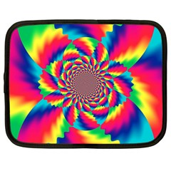 Colorful Psychedelic Art Background Netbook Case (Large)
