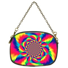 Colorful Psychedelic Art Background Chain Purses (two Sides)