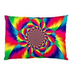 Colorful Psychedelic Art Background Pillow Case
