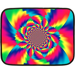 Colorful Psychedelic Art Background Double Sided Fleece Blanket (mini)