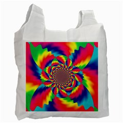 Colorful Psychedelic Art Background Recycle Bag (two Side)