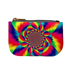Colorful Psychedelic Art Background Mini Coin Purses