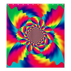 Colorful Psychedelic Art Background Shower Curtain 66  X 72  (large)
