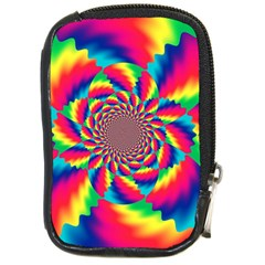 Colorful Psychedelic Art Background Compact Camera Cases