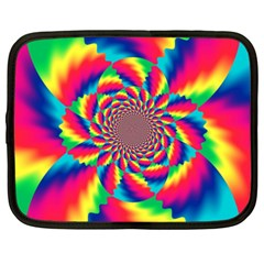 Colorful Psychedelic Art Background Netbook Case (xxl)