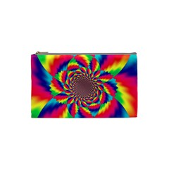 Colorful Psychedelic Art Background Cosmetic Bag (small)