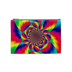 Colorful Psychedelic Art Background Cosmetic Bag (medium)