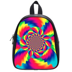 Colorful Psychedelic Art Background School Bags (small)