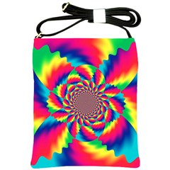 Colorful Psychedelic Art Background Shoulder Sling Bags