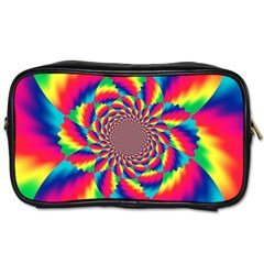 Colorful Psychedelic Art Background Toiletries Bags 2 Side
