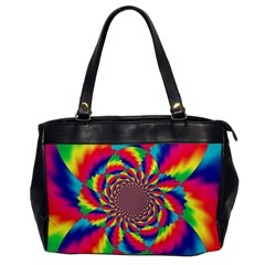 Colorful Psychedelic Art Background Office Handbags