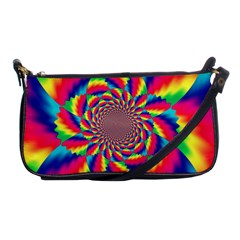 Colorful Psychedelic Art Background Shoulder Clutch Bags