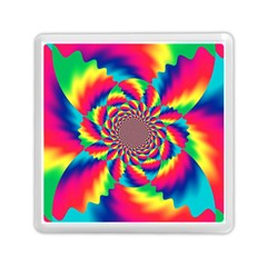 Colorful Psychedelic Art Background Memory Card Reader (square)