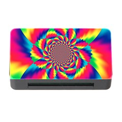 Colorful Psychedelic Art Background Memory Card Reader With Cf