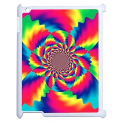 Colorful Psychedelic Art Background Apple Ipad 2 Case (white)