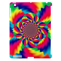 Colorful Psychedelic Art Background Apple iPad 3/4 Hardshell Case (Compatible with Smart Cover)