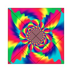Colorful Psychedelic Art Background Acrylic Tangram Puzzle (6  X 6 )