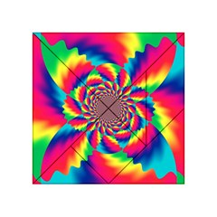 Colorful Psychedelic Art Background Acrylic Tangram Puzzle (4  X 4 )