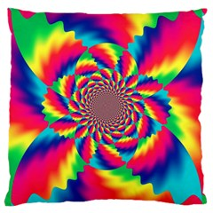 Colorful Psychedelic Art Background Large Cushion Case (two Sides)