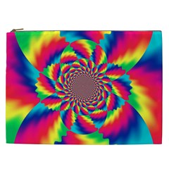 Colorful Psychedelic Art Background Cosmetic Bag (xxl)