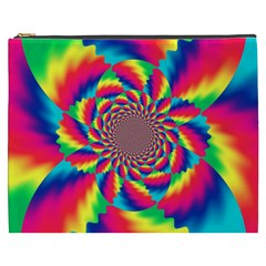 Colorful Psychedelic Art Background Cosmetic Bag (xxxl)