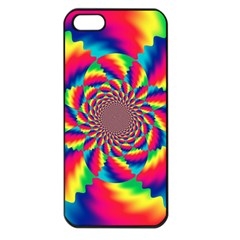 Colorful Psychedelic Art Background Apple Iphone 5 Seamless Case (black)