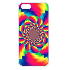 Colorful Psychedelic Art Background Apple Iphone 5 Seamless Case (white)