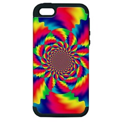 Colorful Psychedelic Art Background Apple Iphone 5 Hardshell Case (pc+silicone)