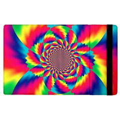 Colorful Psychedelic Art Background Apple Ipad 2 Flip Case