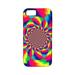 Colorful Psychedelic Art Background Apple Iphone 5 Classic Hardshell Case (pc+silicone)