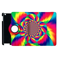 Colorful Psychedelic Art Background Apple Ipad 2 Flip 360 Case