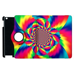 Colorful Psychedelic Art Background Apple Ipad 3/4 Flip 360 Case