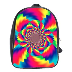 Colorful Psychedelic Art Background School Bags (xl)