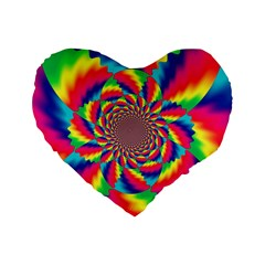 Colorful Psychedelic Art Background Standard 16  Premium Heart Shape Cushions
