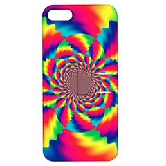 Colorful Psychedelic Art Background Apple Iphone 5 Hardshell Case With Stand