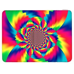 Colorful Psychedelic Art Background Samsung Galaxy Tab 7  P1000 Flip Case