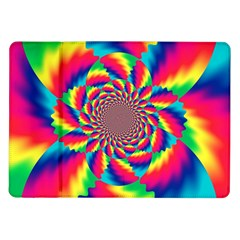 Colorful Psychedelic Art Background Samsung Galaxy Tab 10 1  P7500 Flip Case