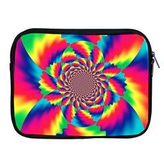 Colorful Psychedelic Art Background Apple Ipad 2/3/4 Zipper Cases