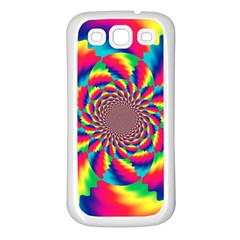 Colorful Psychedelic Art Background Samsung Galaxy S3 Back Case (white)