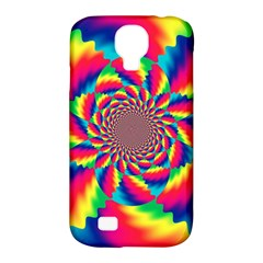 Colorful Psychedelic Art Background Samsung Galaxy S4 Classic Hardshell Case (pc+silicone)