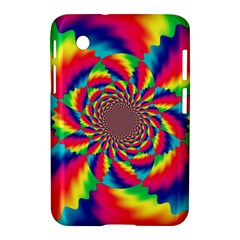 Colorful Psychedelic Art Background Samsung Galaxy Tab 2 (7 ) P3100 Hardshell Case