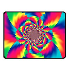 Colorful Psychedelic Art Background Double Sided Fleece Blanket (small)