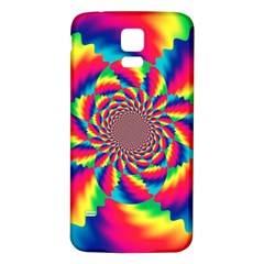 Colorful Psychedelic Art Background Samsung Galaxy S5 Back Case (white)