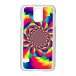 Colorful Psychedelic Art Background Samsung Galaxy S5 Case (White) Front