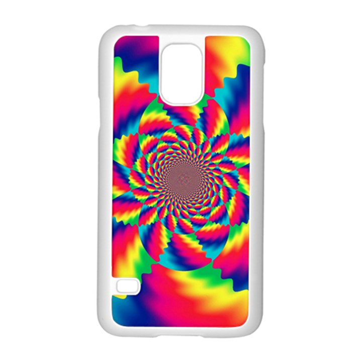 Colorful Psychedelic Art Background Samsung Galaxy S5 Case (White)
